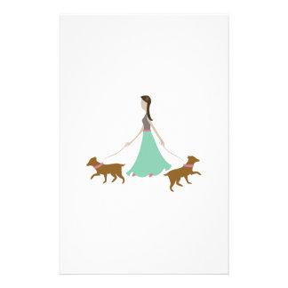 Walking Dogs Stationery Design