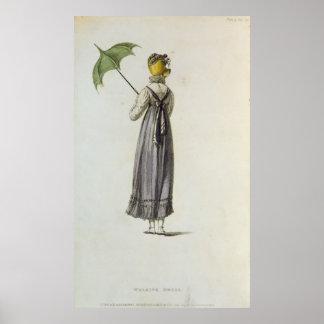 Walking Dress, 1814 Poster
