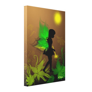 Walking Fairy Gallery Wrapped Canvas
