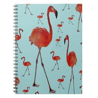 Walking Flamingoes Notebook