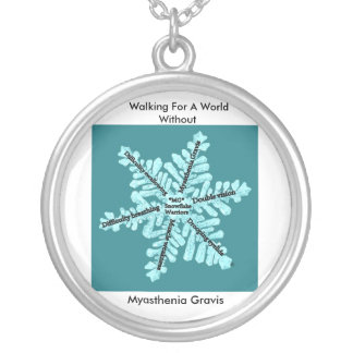 Walking For A World W/out Myasthenia Gravis Silver Plated Necklace