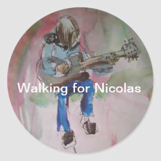walking for Nicolas for Cystic Fibrosis Classic Round Sticker