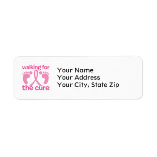Walking For The Cure Return Address Label