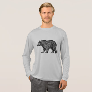 Walking Grizzly Bear Long Sleeved Tee