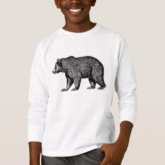 Walking Grizzly Bear Long Sleeved Tee Kids