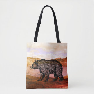 Walking Grizzly Bear Tote Bag