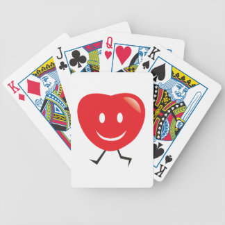 walking heart bicycle playing cards