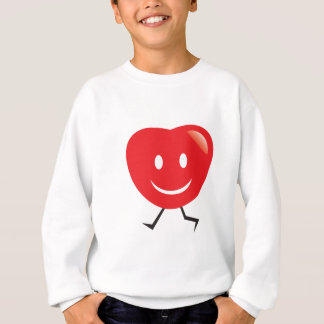 walking heart sweatshirt
