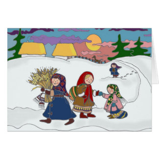 Walking Home Ukrainian Folk Art Card