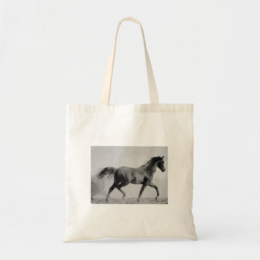 Walking Horse Black & White Bag