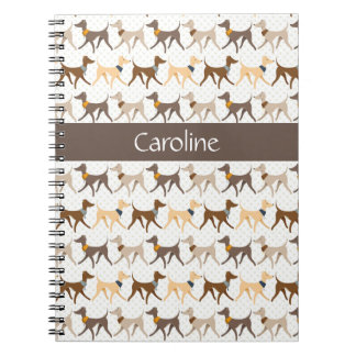 Walking Hounds Spiral Note Book