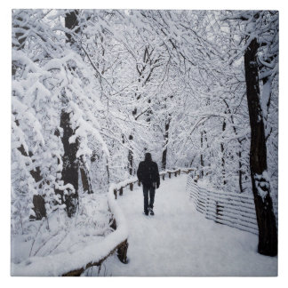 Walking In A Winter Wonderland Ceramic Tile