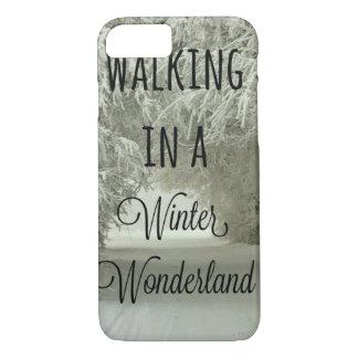 Walking in a Winter Wonderland iPhone 7 Case