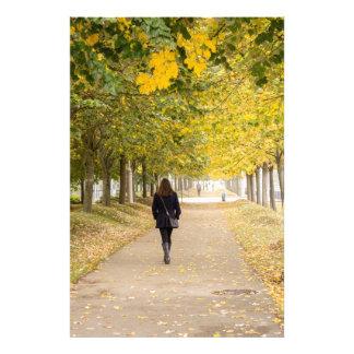 Walking in Autumn Art Photo