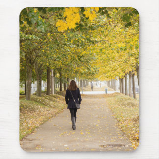 Walking in Autumn Mouse Pad