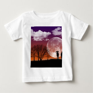 Walking in front of the moon Digital Art Baby T-Shirt