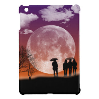 Walking in front of the moon Digital Art Case For The iPad Mini