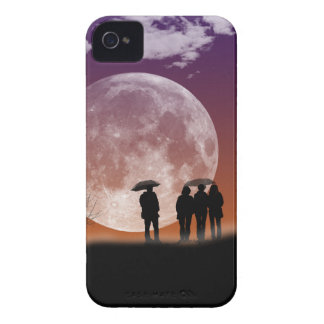 Walking in front of the moon Digital Art iPhone 4 Case