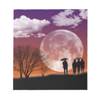 Walking in front of the moon Digital Art Notepad