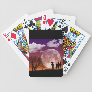 Walking in front of the moon Digital Art Poker Deck