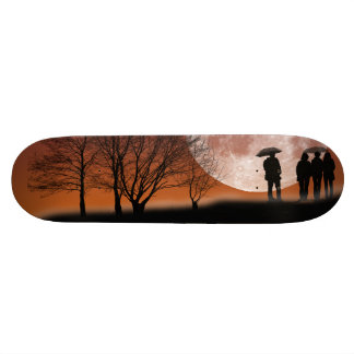 Walking in front of the moon Digital Art Skateboar Skate Board Deck