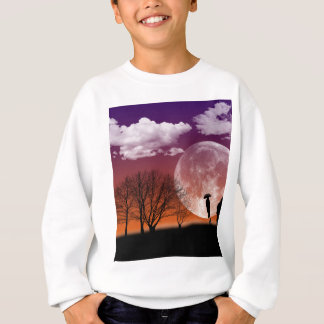 Walking in front of the moon Digital Art Sweatshirt