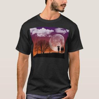 Walking in front of the moon Digital Art T-Shirt