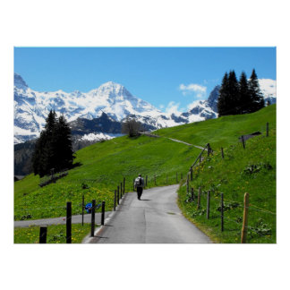 Walking in Murren Poster