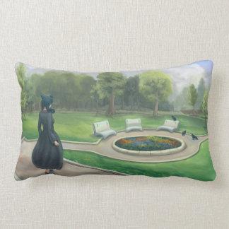 Walking in the Garden Fantasy Art Cushions
