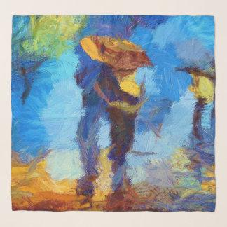 Walking in the Rain Chifon Scarf