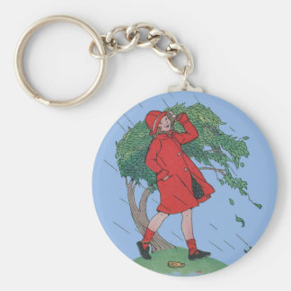 walking in the rain key ring