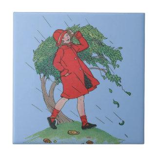 walking in the rain tile
