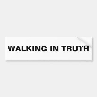 """""""Walking In Truth"""" Bumper Sticker"""