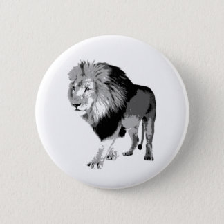 Walking Lion 6 Cm Round Badge