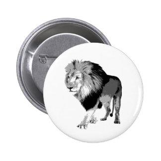 Walking Lion 6 Cm Round Badge