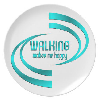 Walking Makes Me Happy Plate