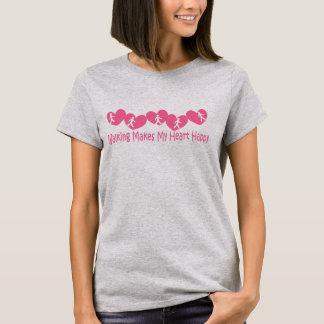 Walking Makes My Heart Happy T-Shirt