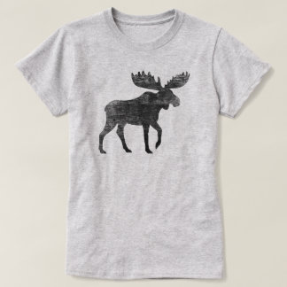 Walking Moose Silhouette T-Shirt