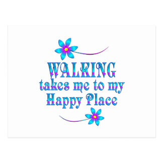 Walking My Happy Place Postcard