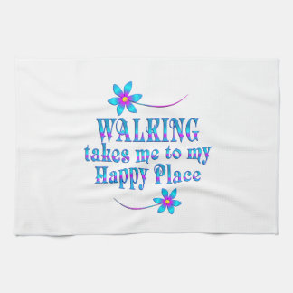 Walking My Happy Place Tea Towel