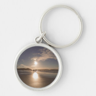 Walking off into the sunset key ring
