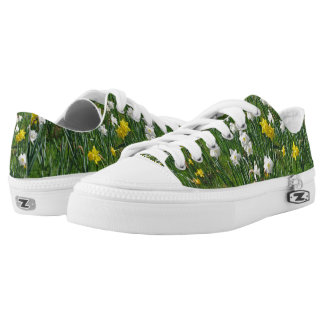 Walking on Daffodil Low Tops