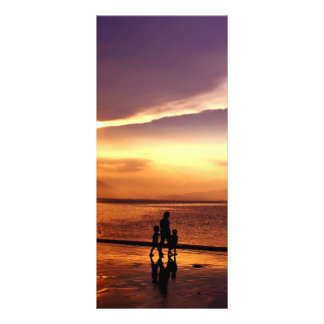Walking on the Beach at Sunset Full Color Rack Card