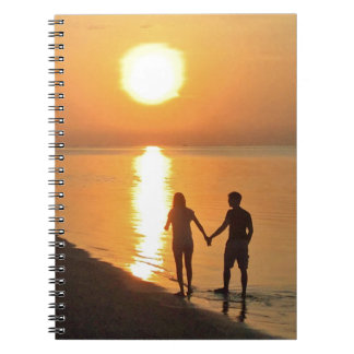 Walking on the beach notebook