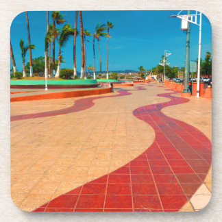 Walking on the streets of Baja Beverage Coaster