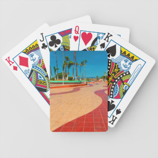 Walking on the streets of Baja Bicycle Playing Cards