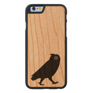 Walking Owl Silhouette Carved Cherry iPhone 6 Case