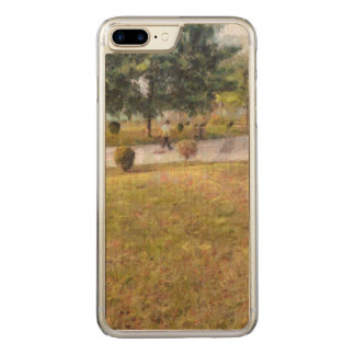 Walking path and greenery carved iPhone 7 plus case