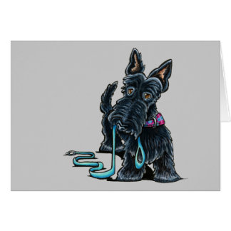 Walking Scottie Card