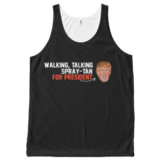 Walking Talking Spray-tan for President - - .png All-Over Print Tank Top